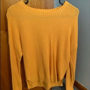 Hollister yellow sweater